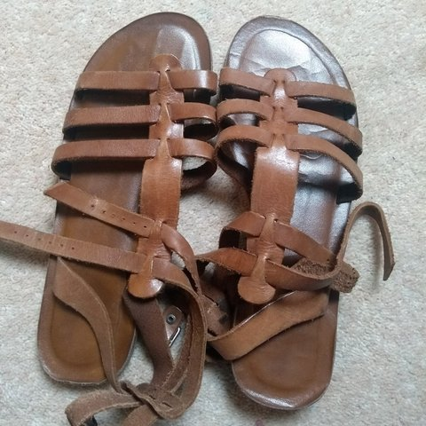 0a7ec2f5cea Real leather Gladiator sandals