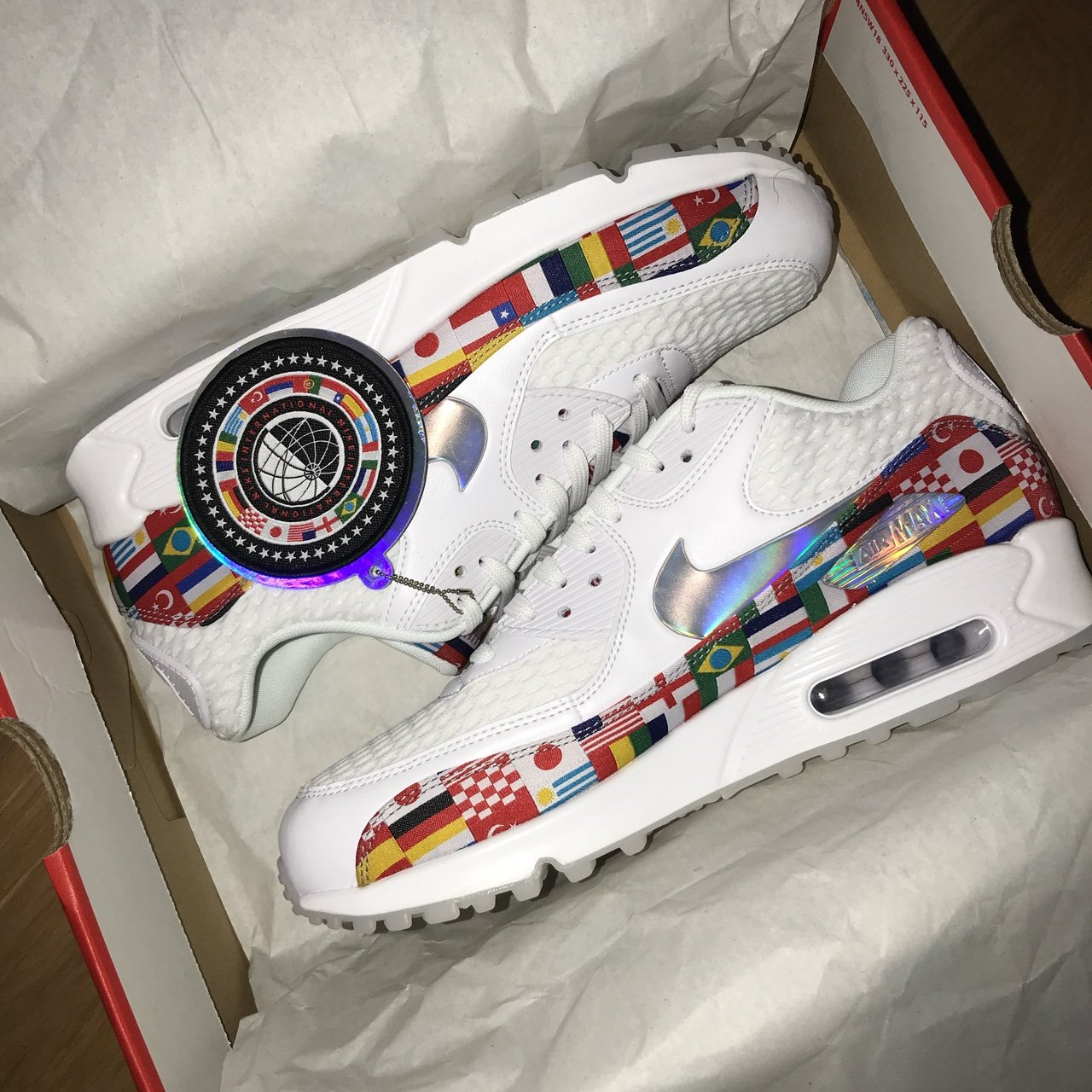 Nike Air Max 90 - One World Size UK 8 Brand new with for - Depop acc54aa4d
