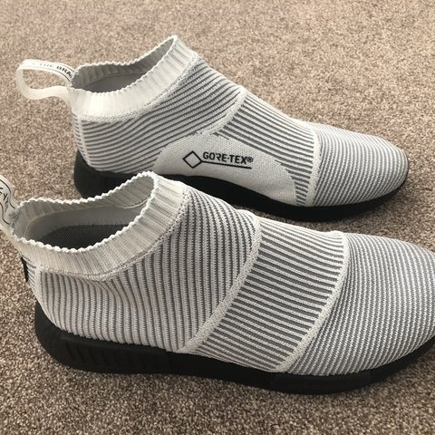 8ac8cc1c7 NMD CS1 GTX White Black Size 11 Worn once No box Bought for - Depop