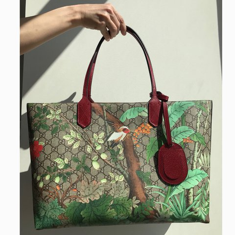 b537d13f154536 @leylascloset. last year. New York, United States. Gucci Tian GG Medium Tote .
