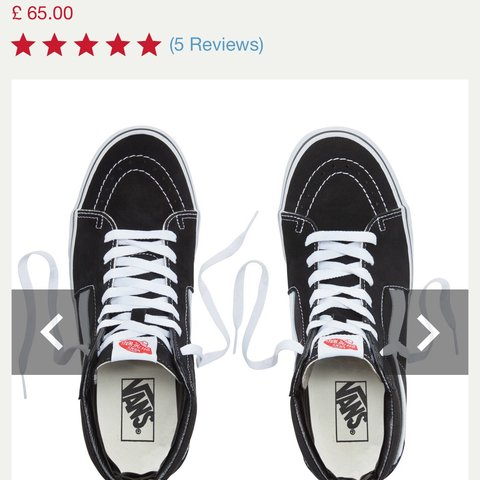 High top black vans. UK Size 4 ( I m usually a size 5 and in - Depop cc9071e24