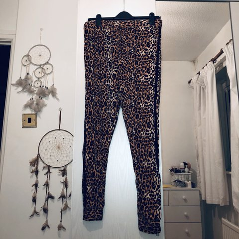 f224309c70f7 Topshop Lounge Leopard Print Joggers. Size 16. So soft and / - Depop