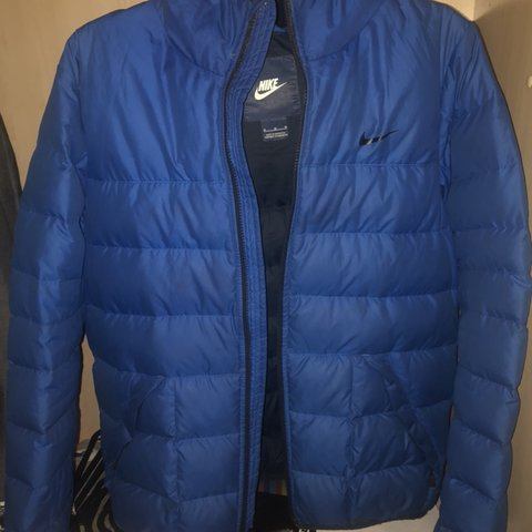 Blue nike puffer bubble jacket 🔵 Bought for £130 last from - Depop 27a7411c6