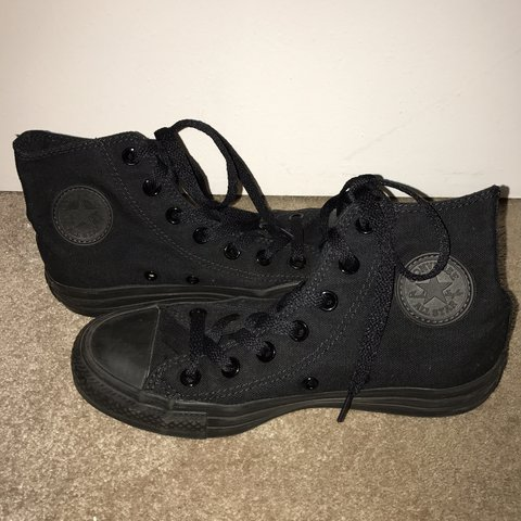 Converse Chuck Taylor All Star High-Top Sneakers Worn once - Depop 9f78e6252