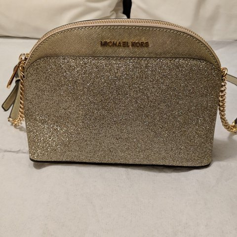 8e5b667e0310 Beautiful little Michael Kors crossbody. Gold glittery. Wore - Depop