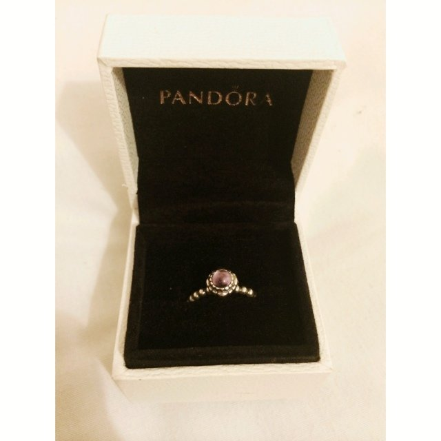 21babf764 ... wholesale genuine pandora february birthstone ring in size 52. hardly  depop aaea6 2e843