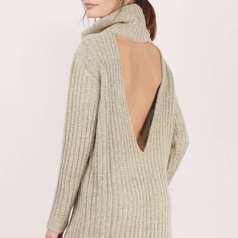 85da5059cf Tobi Sweater Dress Cowl Neck Off the Shoulder Open for a - Depop