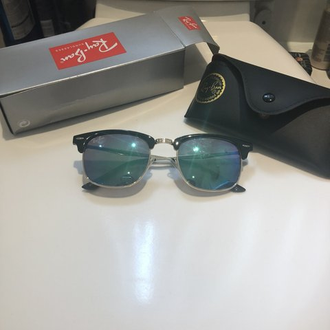 d8648f219b Ray-Ban Clubmaster Remix sunglasses with Blue Mirror lenses - Depop