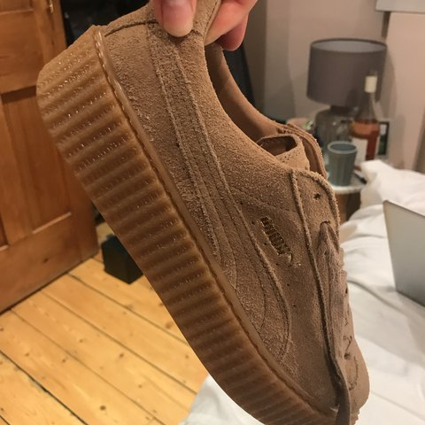 28c8200d2e2 Fenty Puma creepers in Tan with box and bag protector. and   - Depop