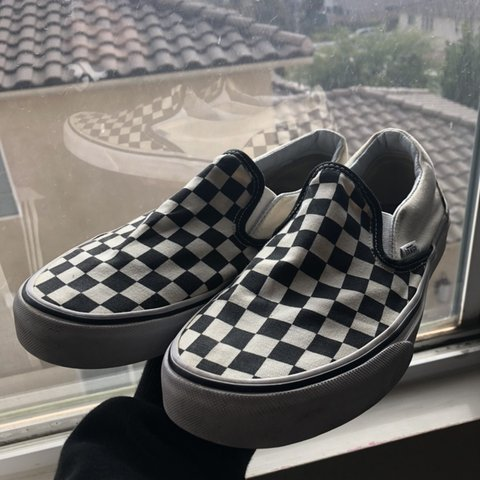 d5f57ff2db Checkered vans ◼ ◻ women s 8.5 but also can work for a 7 be - Depop