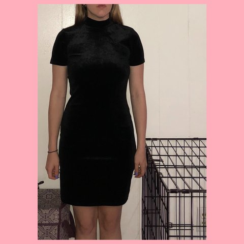 45c658e17f Forever 21 Black Velvet turtleneck dress. Size S