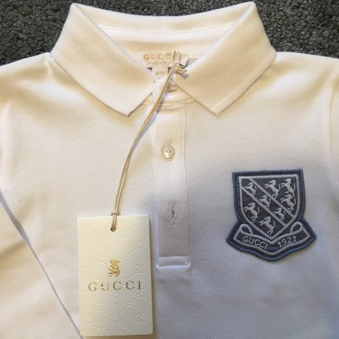 b26a6d8ace1 Brand new Gucci baby boys white long sleeve polo shirt with - Depop