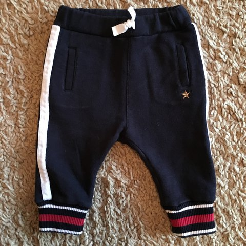 d4509b395 Gucci baby boys navy star tracksuit bottoms 6/9 months. Worn - Depop