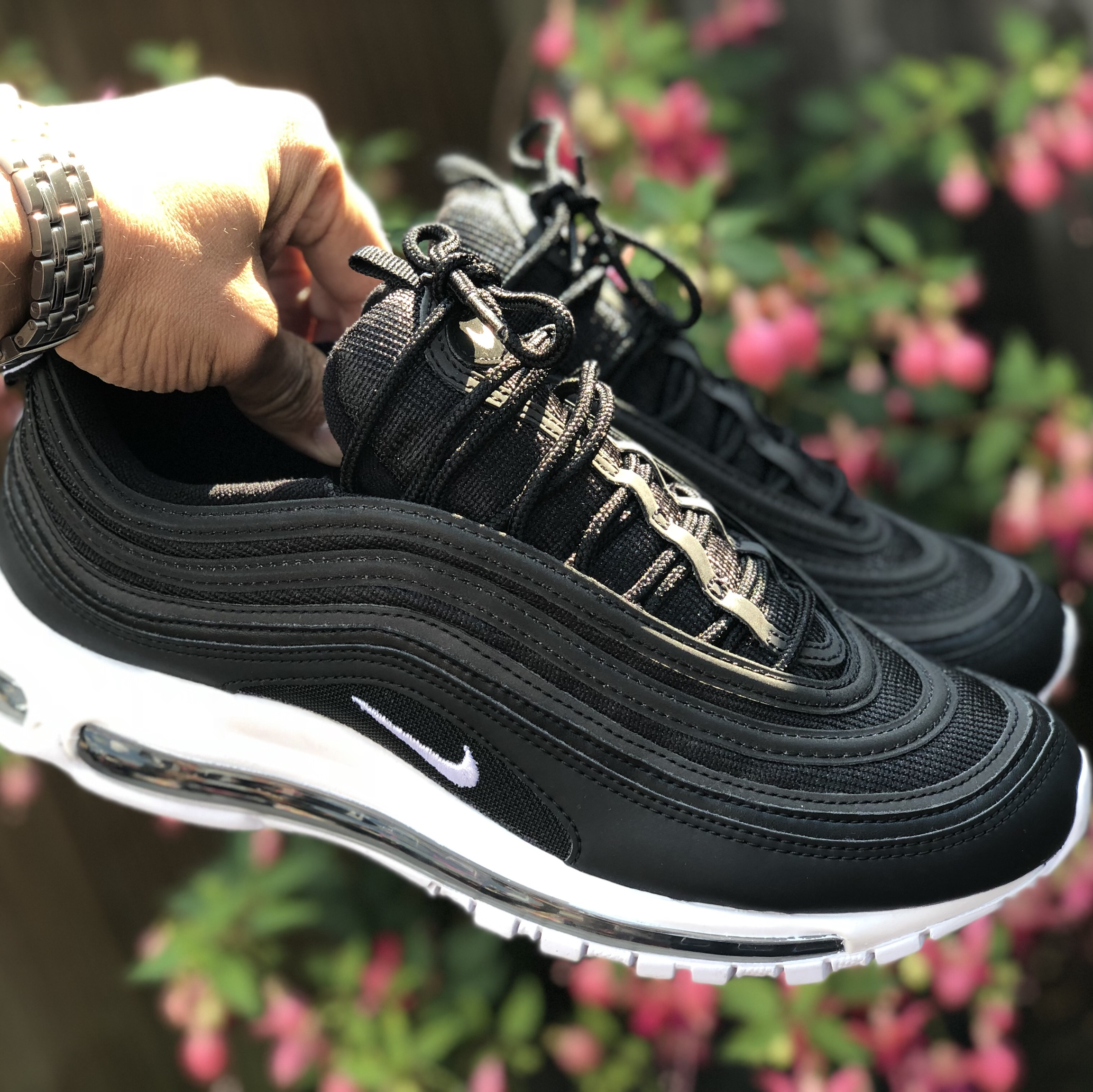 on wholesale large discount new images of Nike air max 97 nocturnal animal Black/white Uk 8... - Depop