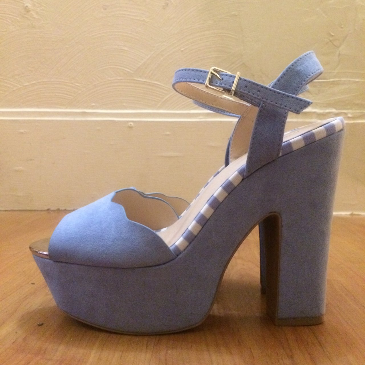 dfe545aee94 🌻POWDER BLUE SUEDE PLATFORM HEELS!🌻They are brand new and - Depop
