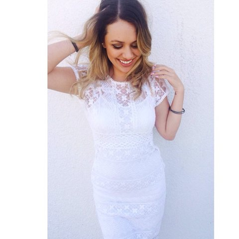 c022b5ea91b Forever 21 white lace dress. Size M in good condition. Form - Depop