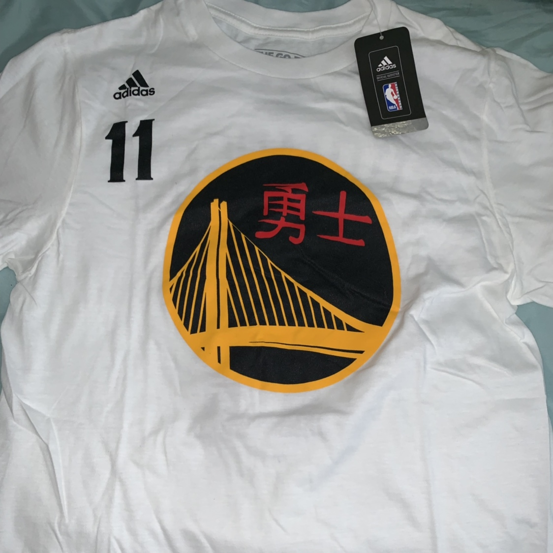 sports shoes 83ff1 be0f9 Klay Thompson T-shirt Jersey Size small- comes... - Depop