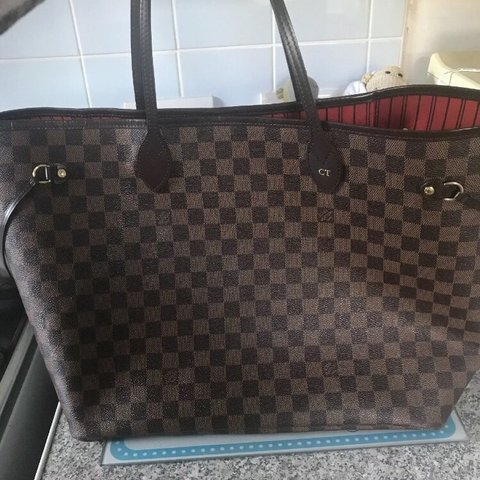 """2ca8097a777c Louis Vuitton neverfull GM with hot stamp initials """"C T"""" in - Depop"""