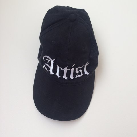 "133e3e1e7c77c ""ARTIST"" embroidered hat with Velcro back strap. Purchased - Depop"