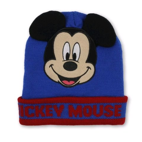 4253723817ff0 Disney Mickey Mouse Beanie Hat in Blue and Red wtih Mickey - Depop