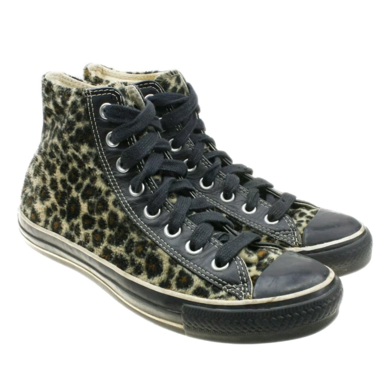 d2f5fc8de605 Converse Chuck Taylor All Star High Top 1K661 Leopard Print - Depop