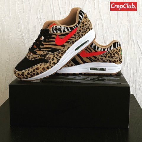 85ea87c067 @crepclub1. last year. Birmingham, United Kingdom. Nike Air Max 1 Atmos Animal  Pack 2.0 2018
