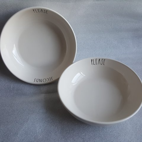 Rae Dunn Og Pasta Bowls Seconds Please Set Of 2 New With Depop