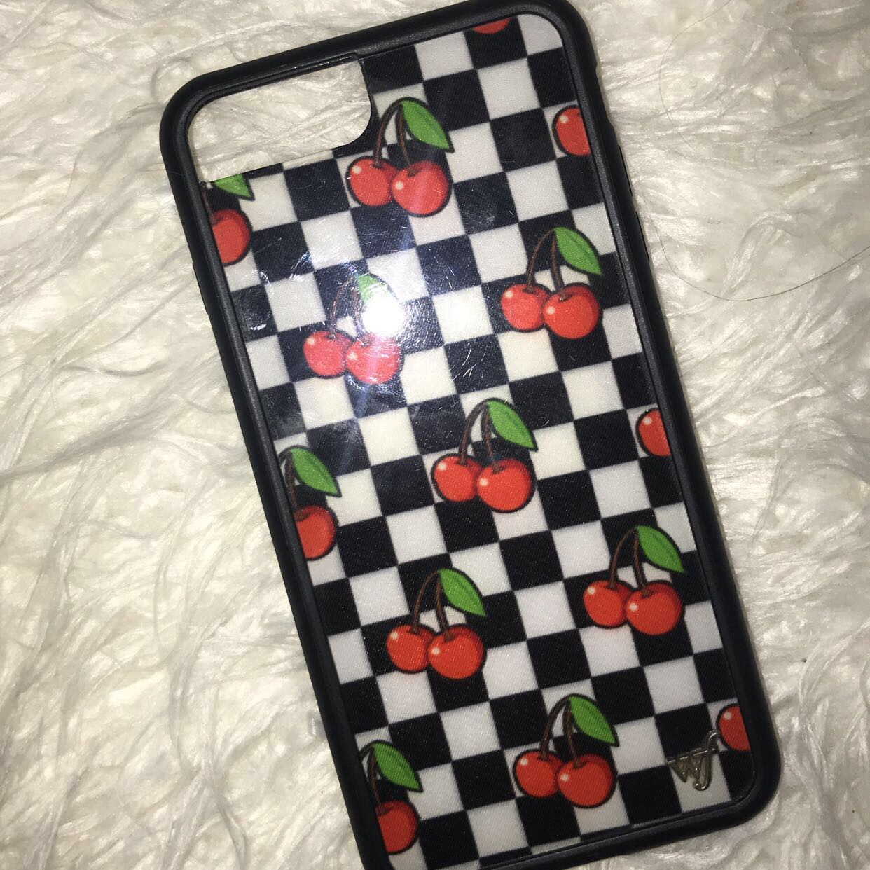 get cheap 987a3 7711f Wildflower cases checkered cherry case🏁🍒 Retails for... - Depop