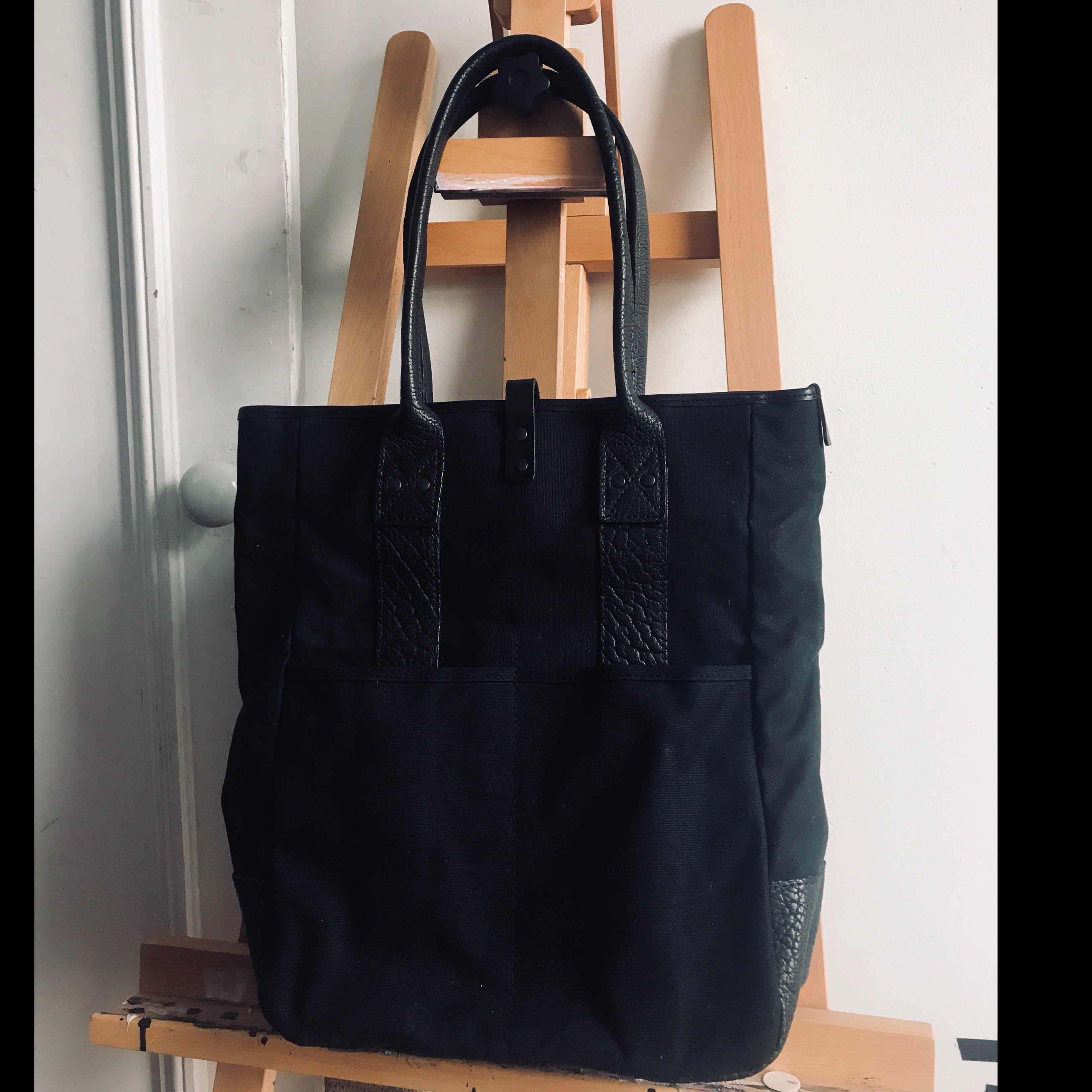 BILLY KIRK x UNCRATE LEATHER TOTE BAG Org     - Depop