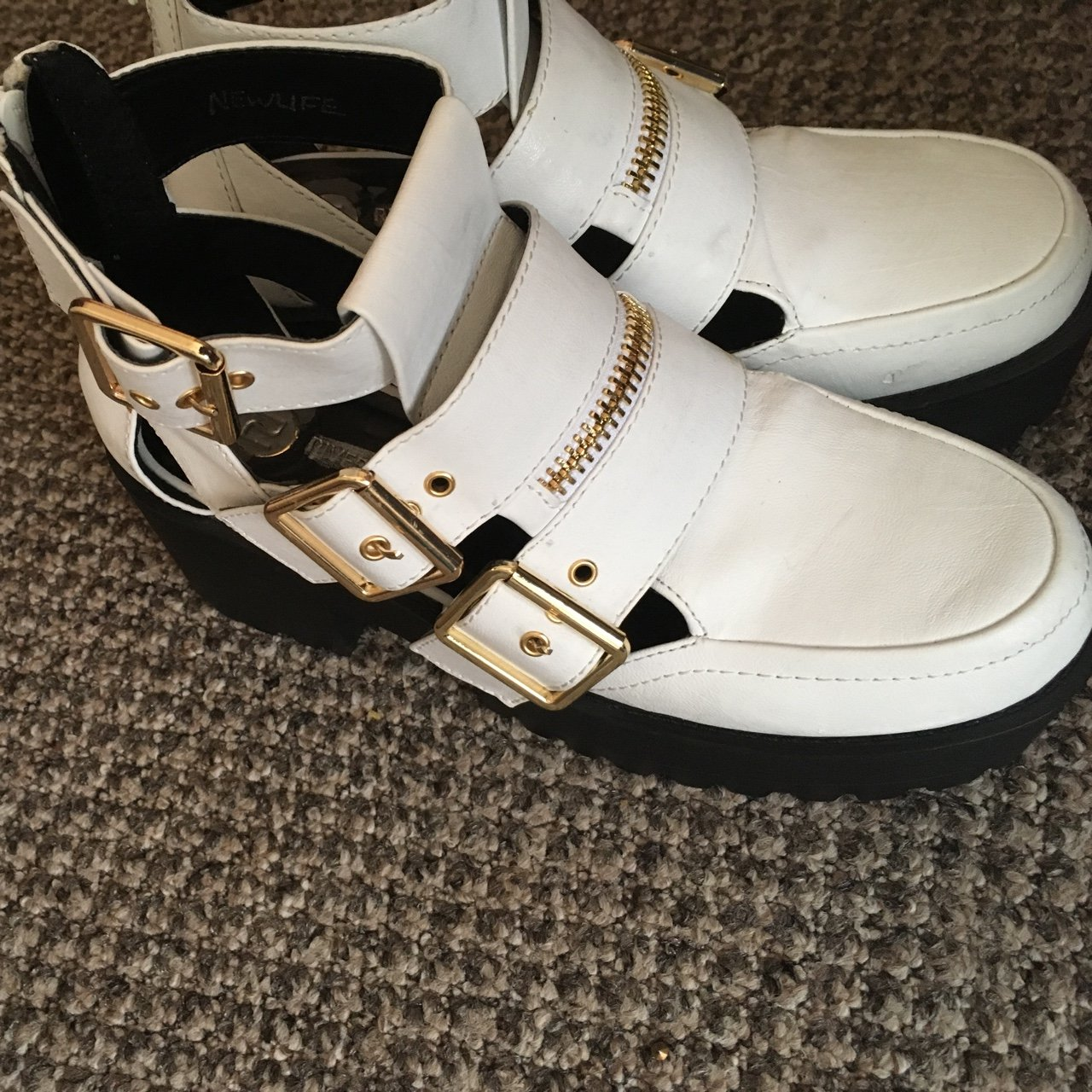 Few Minor Scratches River Island ShoesA White And Platform Depop JcuTl1FK3