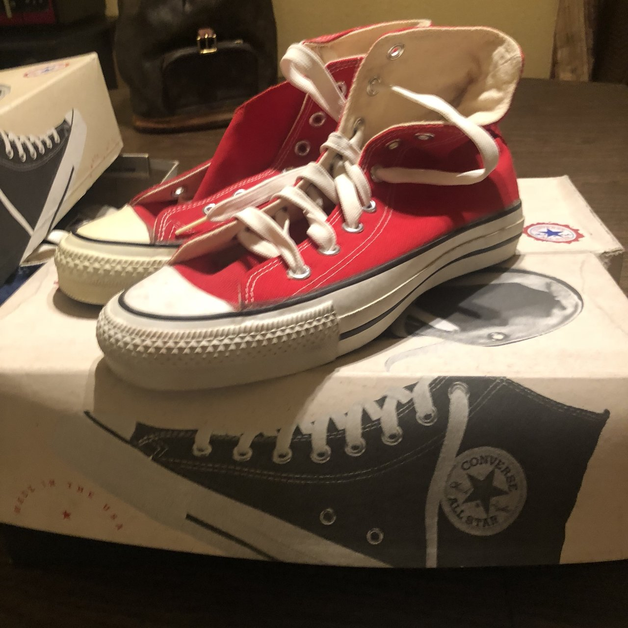 d5d757d54121 Vintage made in USA converse Deadstock Size 5.5    7.5 - Depop