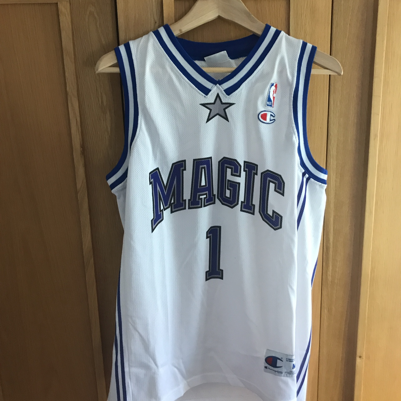 timeless design a158e c4efe Vintage Champion Tracy McGrady Orlando Magic NBA ...