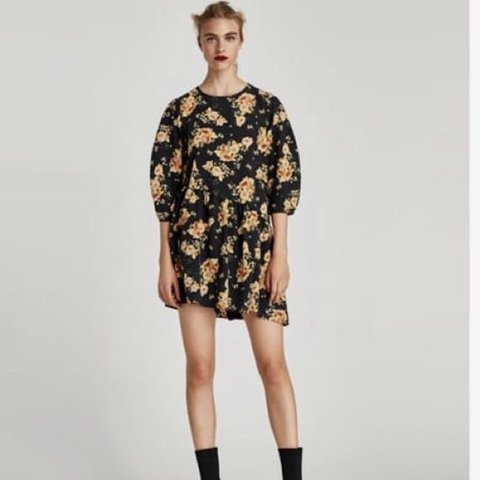 8d1fee70836b Zara floral flower print playsuit dress   jumpsuit - dress a - Depop