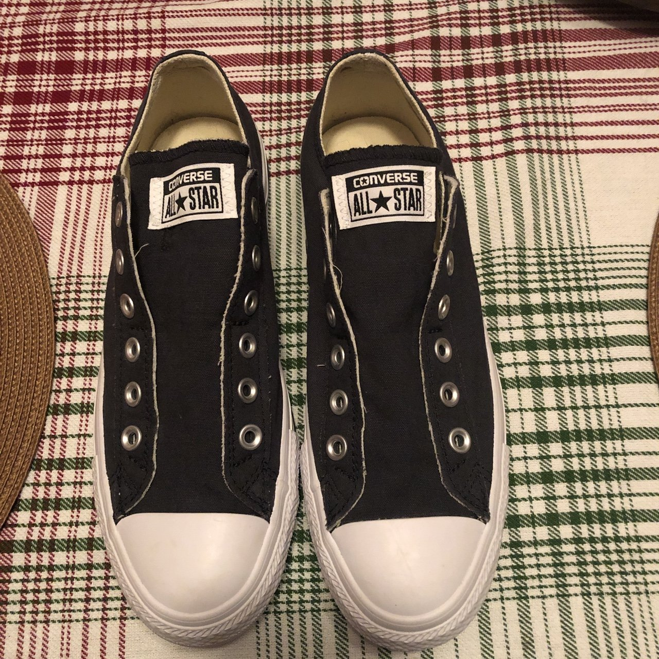 28bafb2021a Brand new Converse. Black slip ons. Manufactured with no in - Depop