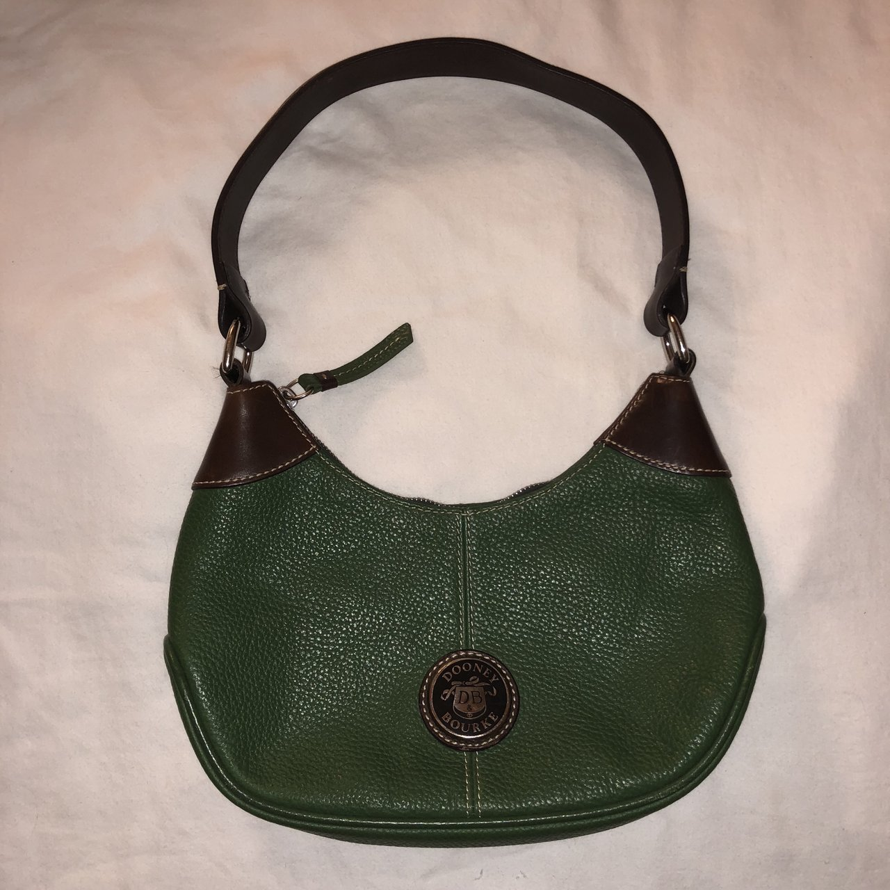 Authentic Dooney and Bourke Green All Weather Leather Small - Depop 09f174cdc64df