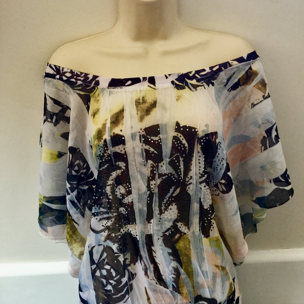 301c53344a Jane Norman butterfly sheer top
