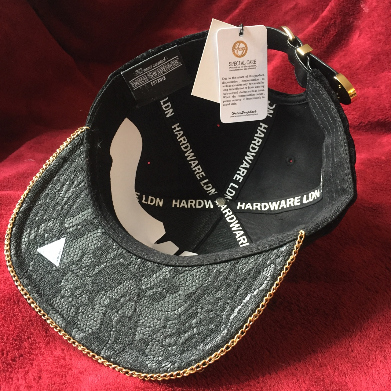 90e8a3651 Limited edition luxury Hardware LDN X Hater SnapBack... - Depop