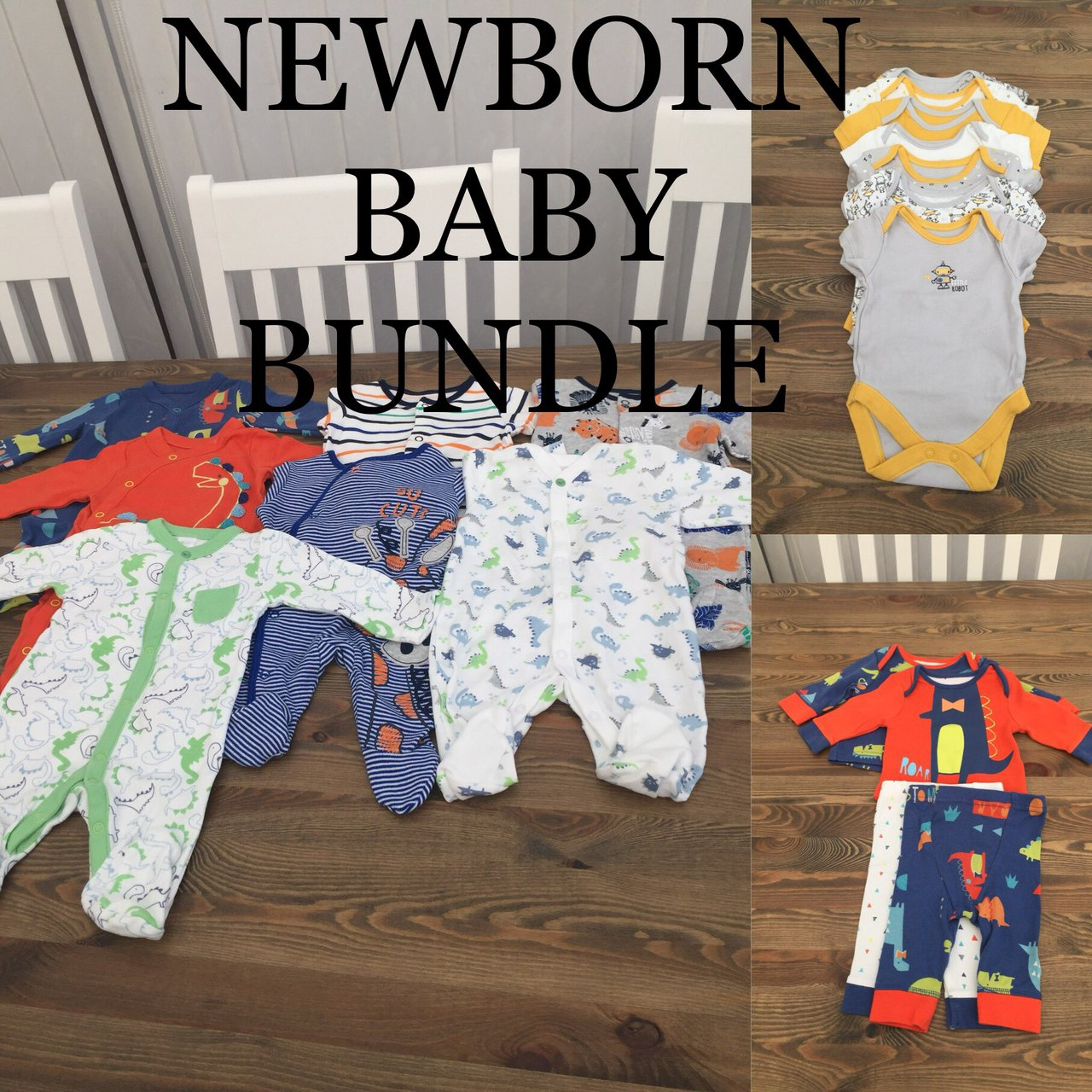 2f9e70b2b NEWBORN BABY BOYS BUNDLE 7 x babygrows  2 x Mothercare