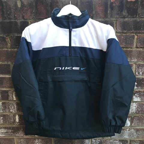 85b782156c8c Vintage Nike 1 4 Zip Pullover - size large in boys so would - Depop