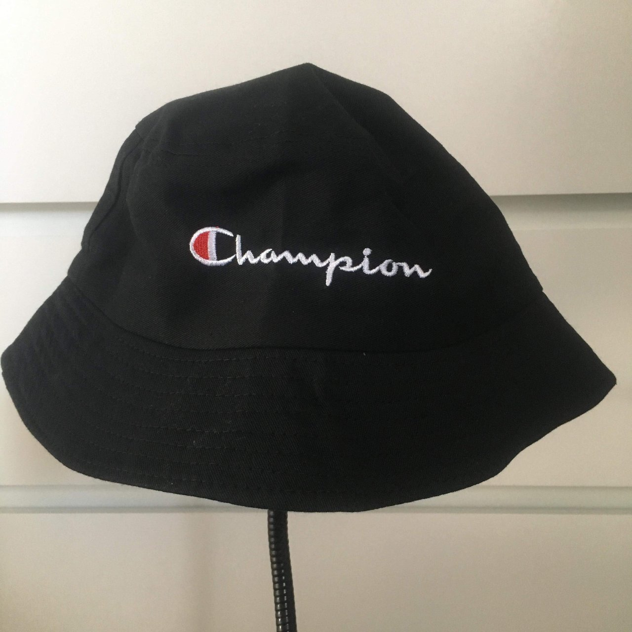 cc6a8125aff Black champion bucket hat perfect for festivals and events ! - Depop