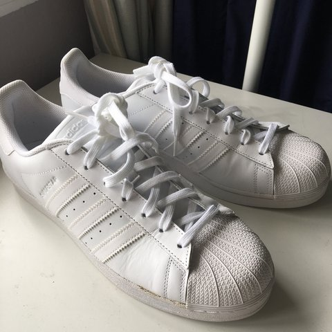 ccd109d7ffe Adidas all white superstars Very good condition barely worn - Depop