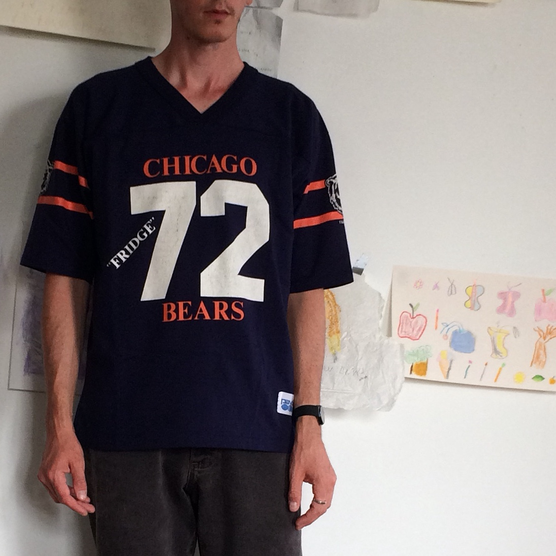 sports shoes 3c8e9 70c0d Vintage Chicago Bears Jersey T-shirt. #72 William... - Depop