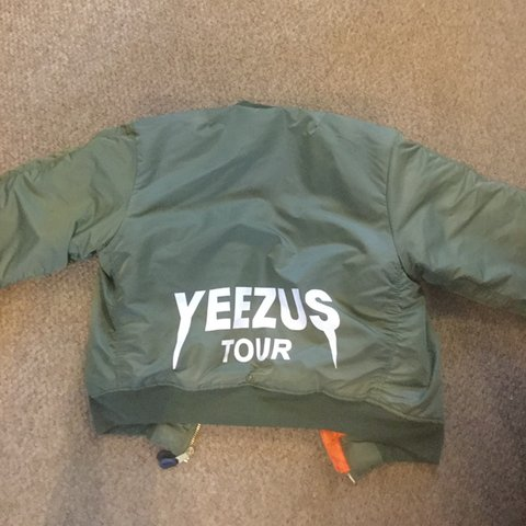 4b2ebe83881 Any offers welcome! Yeezus Tour Bomber Jacket MA-1 Flight is - Depop