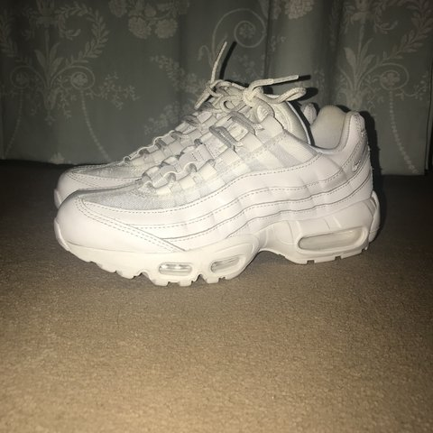 3034227302b48 @elliefreeman_. last year. Waltham Abbey, United Kingdom. Women's Nike Air  Max 95 Trainers in All White Size: UK 5 ...
