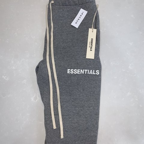 0497e5ce Fear of God Essentials Joggers Grey, Size XS - Oversized - Depop