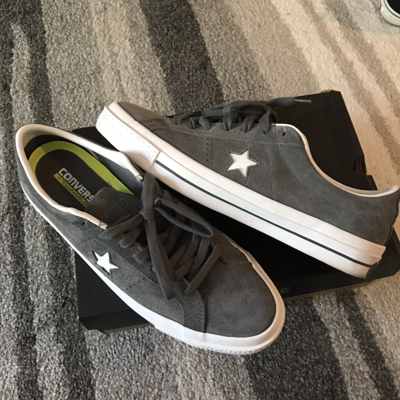 ff8d085ce80e Converse one star suede OX skate shoe. Size 10.5. Worn once - Depop
