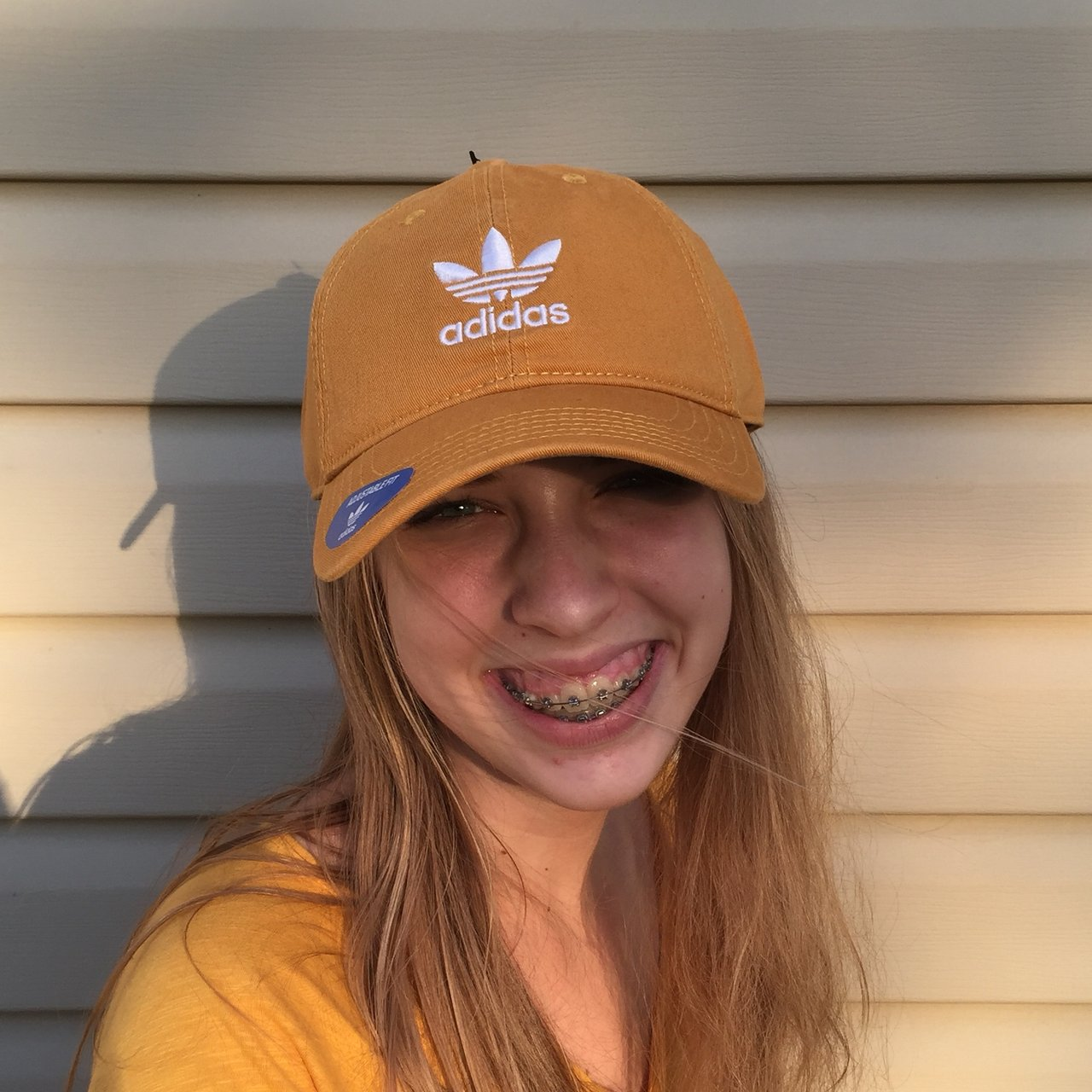 GORGEOUS AESTHETIC MUSTARD YELLOW ADIDAS ORIGINALS HAT 54d877e3b49