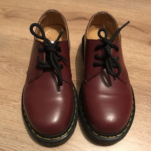 1f21313ee82ea @morbidlyfabulous. 2 years ago. Belfast, United Kingdom. Dr Martens 1461  Smooth Cherry Red, in really good condition.