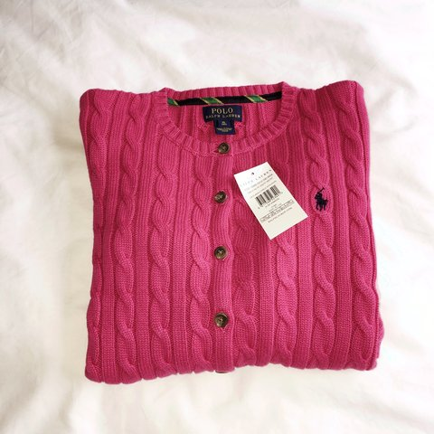 a429337459c9c9 @emily_d5. last year. Chester, UK. Ralph Lauren bright pink cable knit  cardigan. Girls ...
