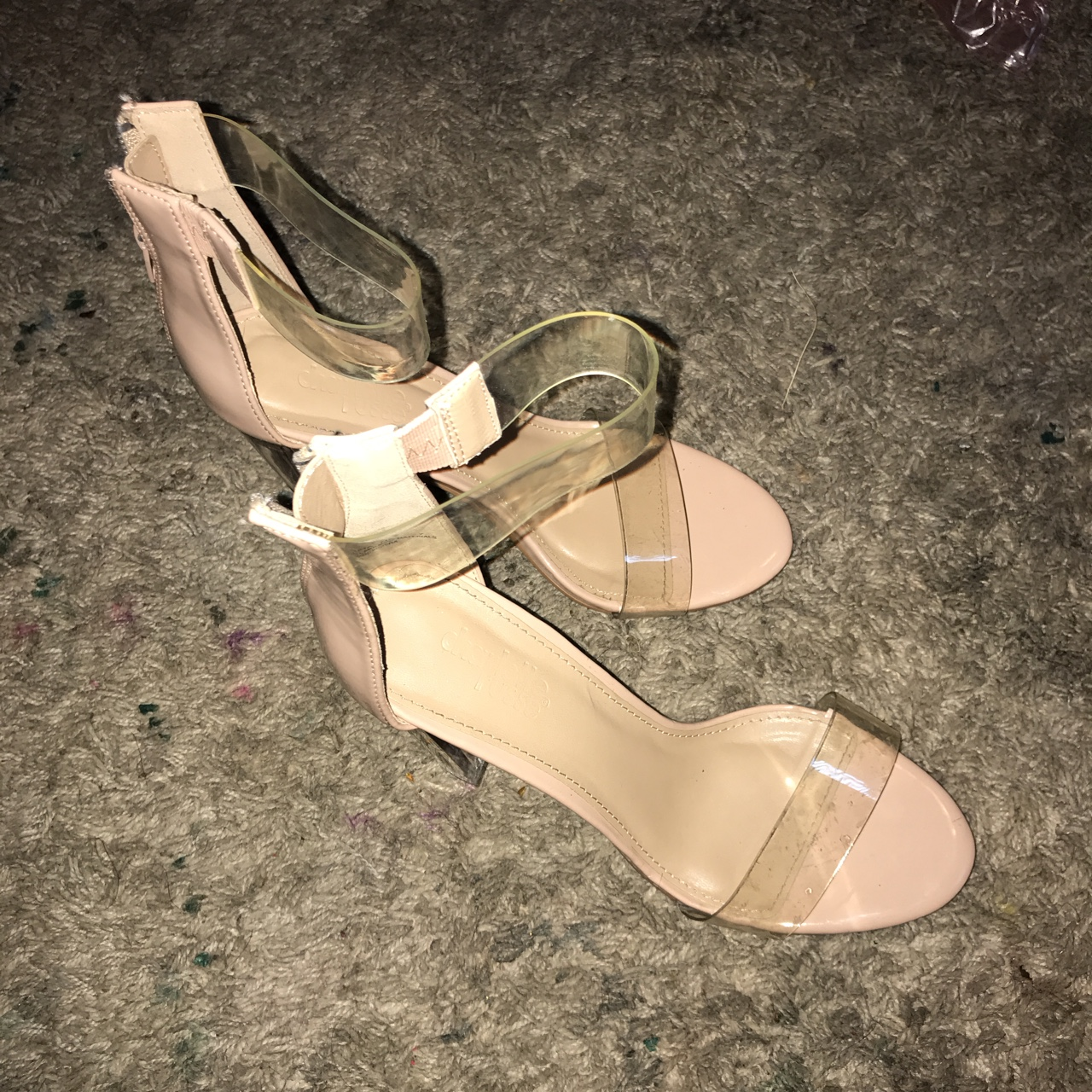 5a9e7fcf2c7 nude clear heels. bought from charlotte russe. worn... - Depop